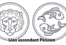 Lion ascendant Poisson